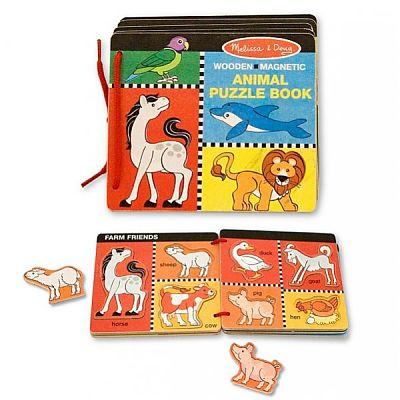 Melissa&Doug Jucarie - Cartea din lemn cu animale magnetice