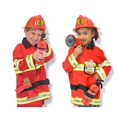 Melissa&Doug Costum carnaval copii Pompier Sef
