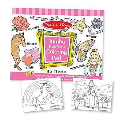 Melissa&Doug Caiet jumbo cu planse pentru colorat - Roz