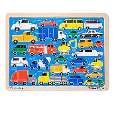 Melissa&Doug Puzzle 24 piese Beep-Beep