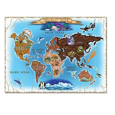 Melissa&Doug Puzzle harta lumii 500 piese