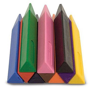 Melissa&Doug Set 10 creioane groase triunghiulare