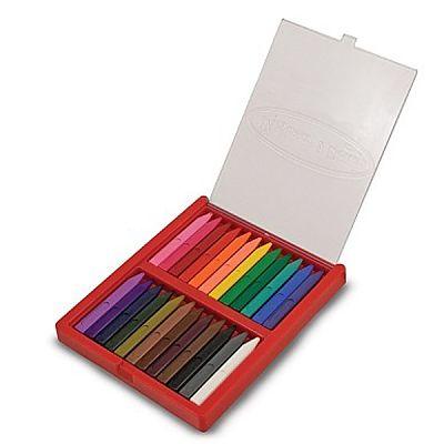 Melissa&Doug Set 24 creioane colorate triunghiulare