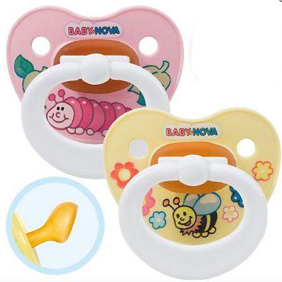 Baby Nova Suzete ortodontice, multicolore,decorate, inel (tal. 2,peste 3 luni)