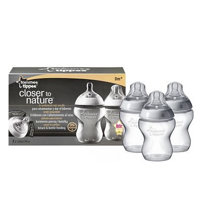 Tommee Tippee Closer to Nature Biberon 260 ml PP x 3