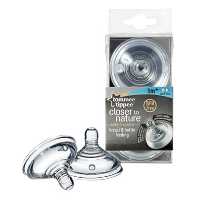 Tommee Tippee Closer to Nature Tetina cu 2 orificii - flux mediu x 2