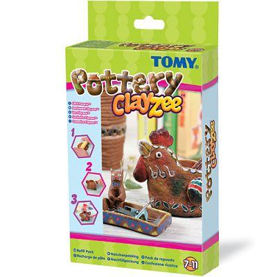Clayzee activity TOMY - Clayzee - Kit de reincarcare (pentru creatii din lut)