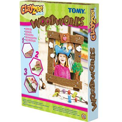 Clayzee activity TOMY - Clayzee - Creatii din lemn