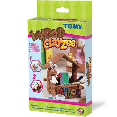Clayzee activity Clayzee - Kit de reincarcare (pentru creatii din lemn)