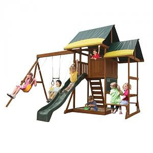 Big Backyard Loc de joaca Oriana Pavillion Swingset & Glider