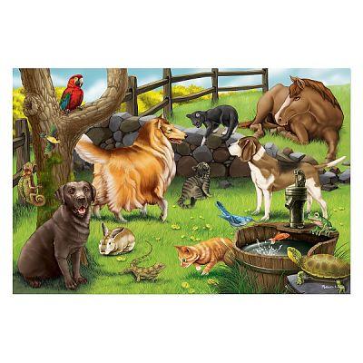 Melissa&Doug Puzzle de podea Animale de companie
