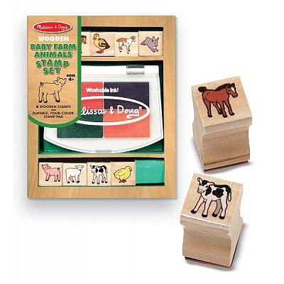 Melissa&Doug Set de stampile Pui de animale domestice