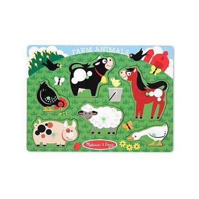 Melissa&Doug Puzzle lemn Animale la Ferma