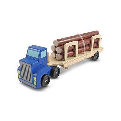 Melissa&Doug Camion Transportor de Busteni