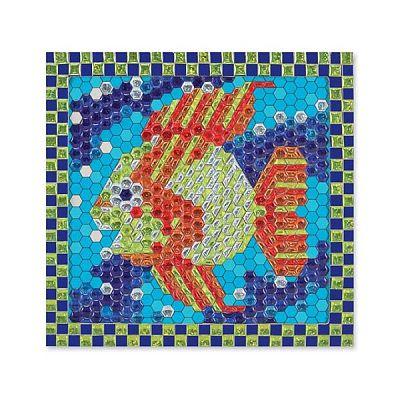 Melissa&Doug Set de creatie mozaic pe numere Peste Tropical