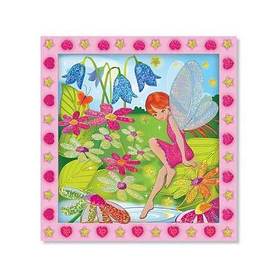 Melissa&Doug Set de creatie mozaic pe numere Gradina cu Flori