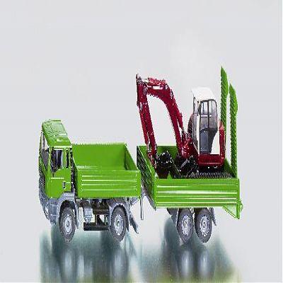 SIKU Camion MAN si excavator