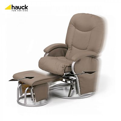 Hauck Fotoliu balansoar - Metal Glider Recline - crem