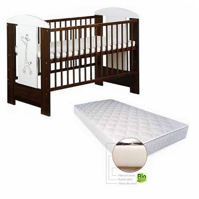 Baby Dreams Patut copii Jungel + Saltea Cocos