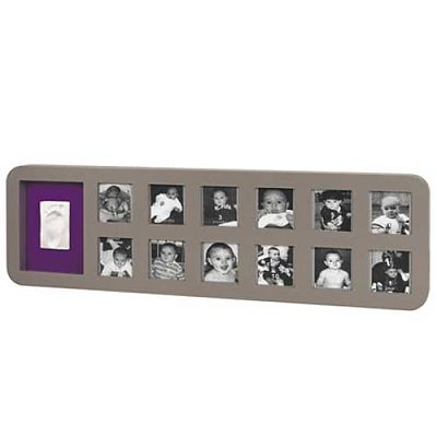 Baby Art First Year Print Frame TAUPE & LIME/PLUM
