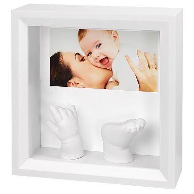 Baby Art Rama Photo Sculpture Frame White