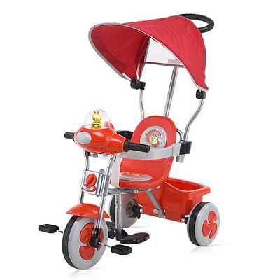 Chipolino Tricicleta cu copertina - LUX red/black