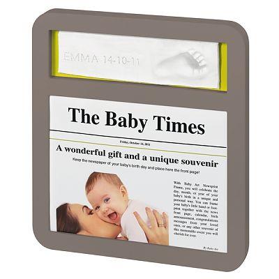 Baby Art Newsprint taupe azure/sun