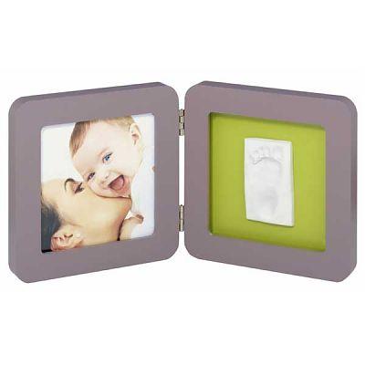 Baby Art Print Frame taupe/lime