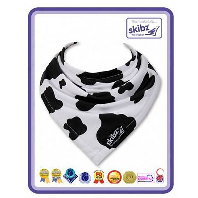 Skibz Baveta/Esarfa bebe Black&White Cow
