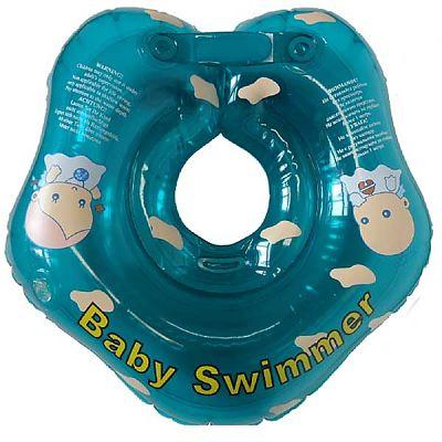 BabySwimmer Colac de inot pentru gat 0-24 luni (3-12kg) Turcoaz
