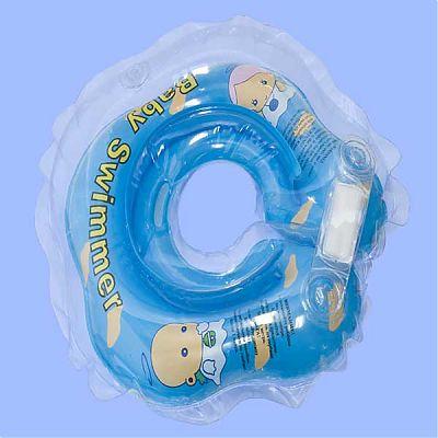 BabySwimmer Colac de inot pentru gat 0-24 luni (3-15kg) BLEU