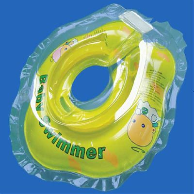 BabySwimmer Colac de inot pentru gat 0-24 luni (3-15kg) GALBEN TRANSPARENT