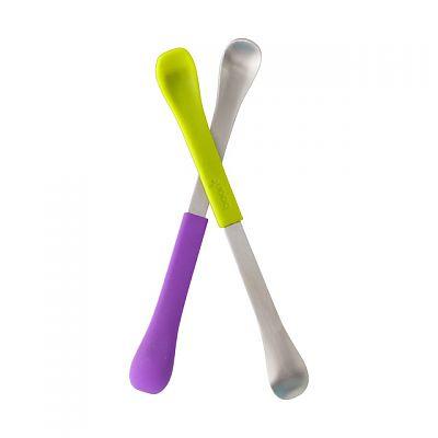 boon Set 2 lingurite cu doua capete Swap, Mov/ Verde