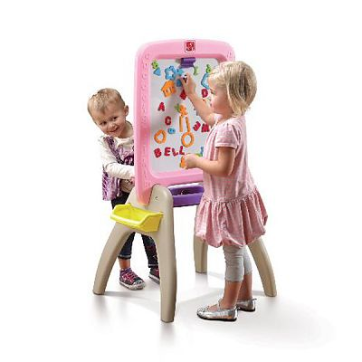 The Step2 Company Sevalet de scris vertical All Around Easel For Two (Pink)