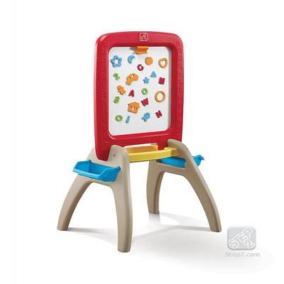 The Step2 Company Sevalet de scris vertical All Around Easel For Two (Red)