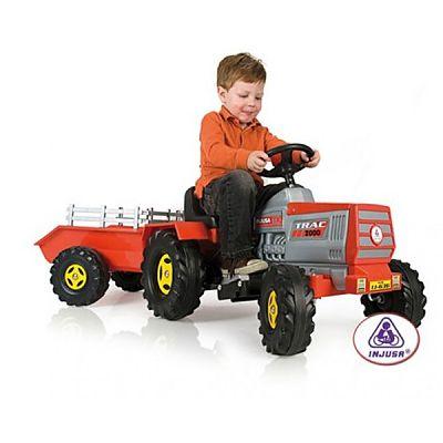 Injusa Tractor electric copii cu remorca 6 v