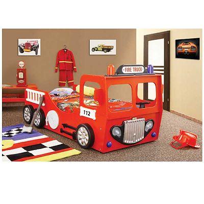 Plastiko Patut pentru copii si tineret  Fire Truck