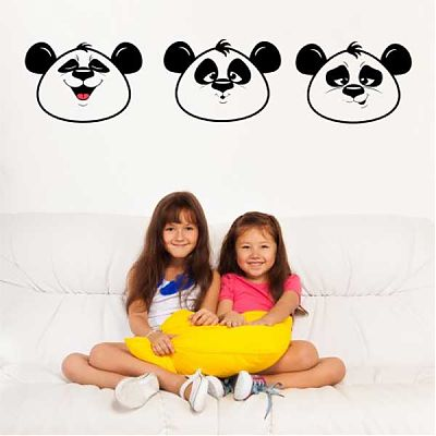 Stickere Ursuleti panda Sticker dim 122cm x 27cm