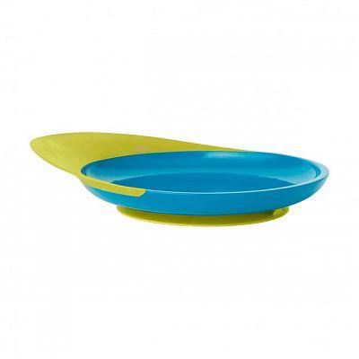 boon CATCH PLATE - farfurie cu sistem antistropire verde/albastru