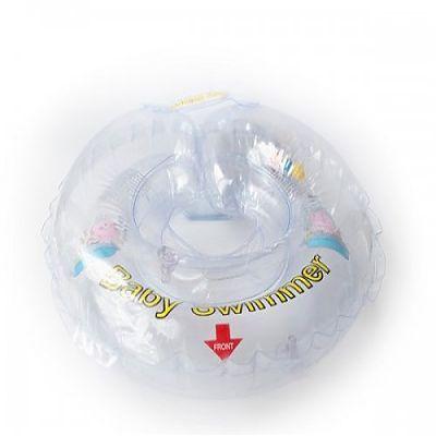 BabySwimmer Colac de inot pentru gat 0-24 luni (3-15kg) Transparent