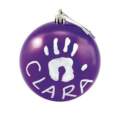 Baby Art Christmas Ball Purple