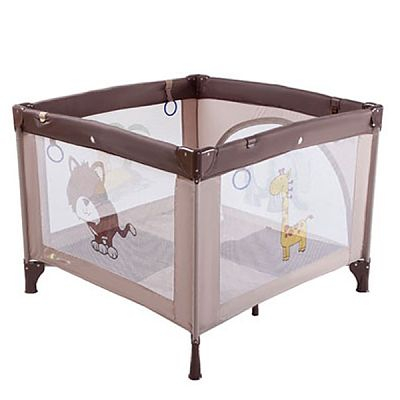 Kinderkraft Tarc de joaca Play Brown