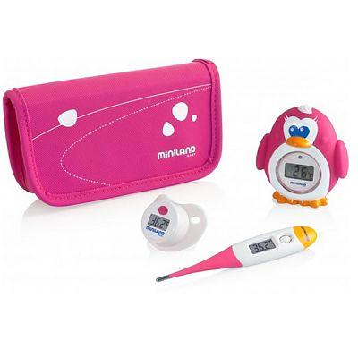 Miniland baby Set termometre Miniland Thermokit Pink