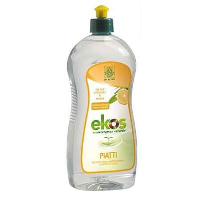 Pierpaoli Solutie Eco pentru spalat vase si biberoane cu portocale Ekos, 750 ml