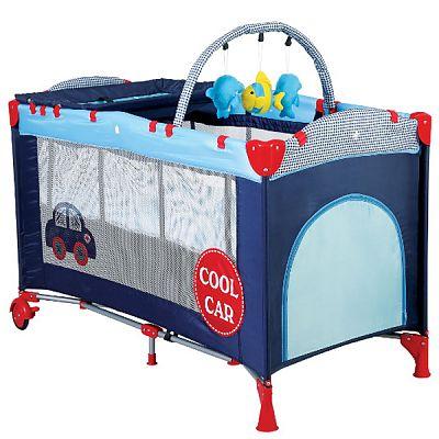 BabyGo Patut pliant cu 2 nivele SleepWell Car