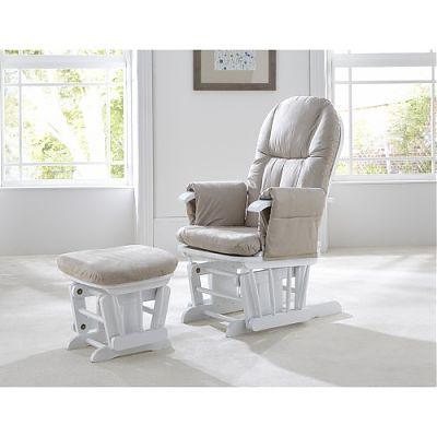 Tutti Bambini Fotoliu reglabil pentru alaptat cu suport pentru piciore GC 35 White