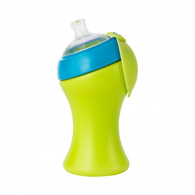 boon SWIG 285 ml cu cioc - verde/albastru - 285 ml