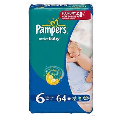 Pampers Scutece nr. 6 Extra Large, +16 kg, 64 bucati