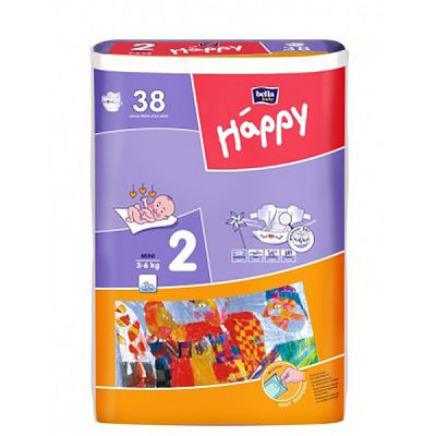 Happy Scutece Happy Mini 3-6 Kg 38 buc