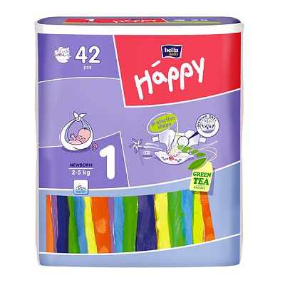 Happy Scutece Happy New Born, 42 buc (2-5 kg)
